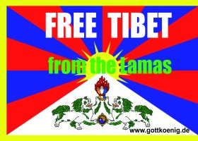 Free Tibet from the Lamas, 3 Aufkleber