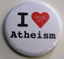 "Magnet ""I love Atheism"